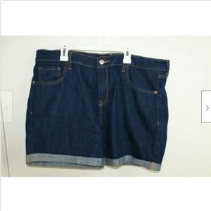 Old Navy Fitted Dark Wash Blue Jean Shorts